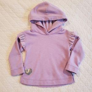 Purple Hooded Sweatshirt (Size 3T)
